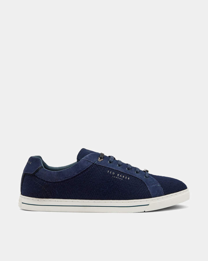 Ted Baker WERILL Suede and wool Derby trainers