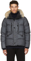 Stone Island Grey Down Puffer Jacket