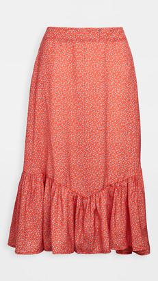 Plush Mermaid Floral Skirt