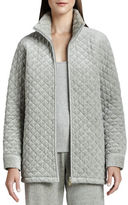Joan Vass Quilted Velour Jacket, Plus Size