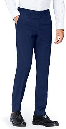 find. Men's Slim Fit Suit Trousers, Blue, W38/L32 (W38)