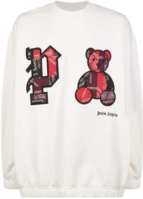 Palm Angels Patchwork Cotton Sweatshirt