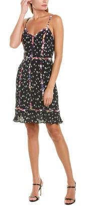 Nicole Miller Silk-Blend Shift Dress