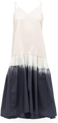 Sea Zelda Tie-dyed Cotton Midi Dress - Grey Multi