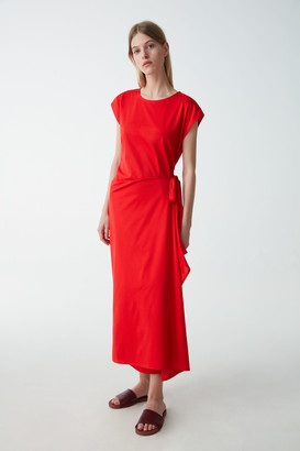 Cos Sleeveless Cotton Wrap Dress