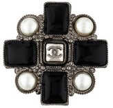 Chanel CC Pearl & Resin Brooch