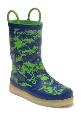 Western Chief Tech Solid LED Camo Rain Boot (Toddler, Little Kid & Big Kid)