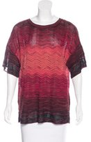 M Missoni Patterned Short Sleeve Top