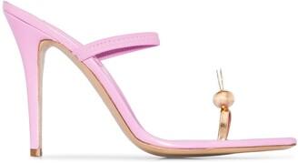 Natasha Zinko Bunny 110mm sandals