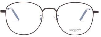 Saint Laurent Round-frame Metal Glasses - Mens - Black