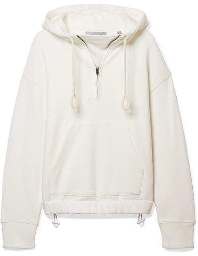 Vince Cotton-jersey Hoodie - Off-white