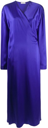 Nina Ricci Wrap-Front Maxi Dress