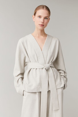 Cos Belted Cotton-Linen Cardigan