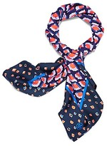 Tory Burch Mixed Fiori Slik Square Scarf