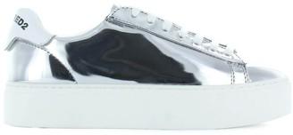 DSQUARED2 New Tennis Mirror Silver Sneaker