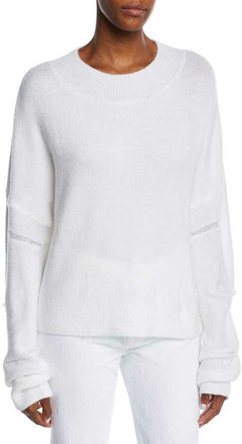 RtA Liam Fuzzy Distressed Pullover Sweater