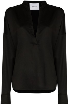 BONDI BORN V-neck long sleeve blouse