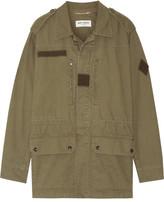 Saint Laurent Cotton And Linen-blend Gabardine Jacket - Army green