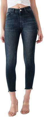 DL1961 X Marianna Hewitt Instasculpt Farrow High Waist Crop Fray Step Hem Skinny Jeans