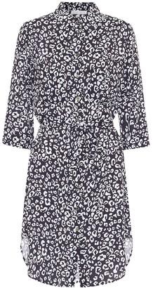 Heidi Klein Tanzania leopard-print shirt dress