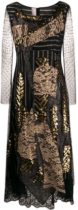 Antonio Marras Lace Panel Midi Dress