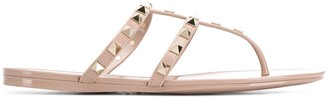Valentino Rockstud flat rubber sandal