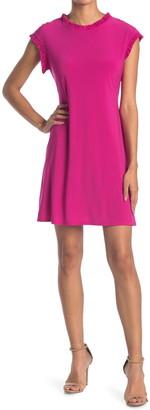 Tash + Sophie Jersey Ruffle A-Line Dress