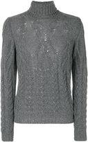 Tagliatore York cable knit turtleneck