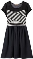 Speechless Girls 7-16 & Plus Size Illusion Striped Dress