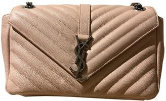 Saint Laurent Baby monogramme Pink Leather Handbags