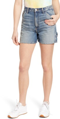 Lee High Waist Dungaree Shorts