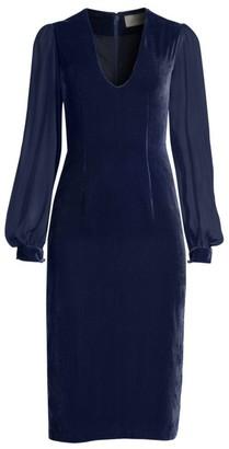 Sachin + Babi Brinker Velvet Shift Dress