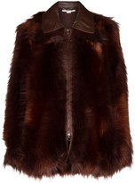 Stella McCartney faux-fur zip-front coat