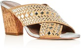 Donald J Pliner Gillian Embellished Crisscross Slide Sandals