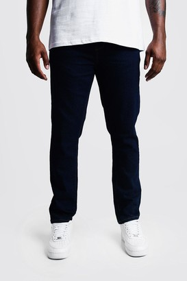 boohoo Mens Blue Big & Tall Skinny Fit Jeans, Blue