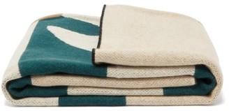 Saved Ny - X Wayne Pate Tree-jacquard Cashmere Blanket - Black Multi