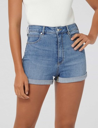 Forever New Florida High Rise Denim Shorts - Miami Blue - 16