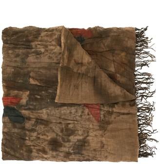 UMA WANG Abstract Print Wool Scarf