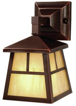 Loon Peak Joelle 1-Light Outdoor Wall Lantern Finish: Burnished Bronze
