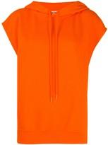 Courreges Cotton Short Sleeve Hoodie