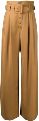 Zimmermann Ladybeetle wool wide-leg trousers