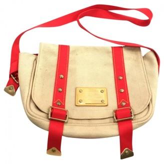 Louis Vuitton Beige Suede Handbags