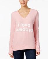 Peace Love World Sundays Graphic Thumb-Hole Sweatshirt