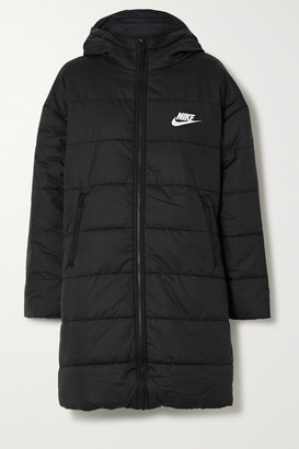 Nike Hooded Quilted Padded Shell Coat - Black