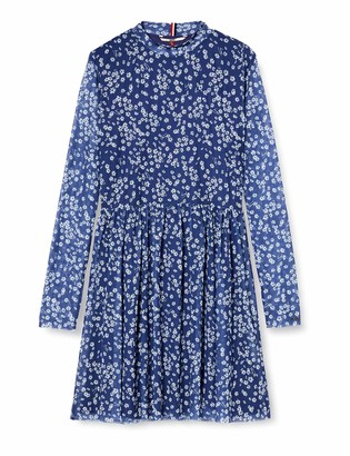 Tommy Jeans Women's TJW Floral Printed MESH Dress