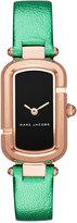 Marc Jacobs Women's The Jacob Metallic Green Leather Strap Watch 20x31mm MJ1503