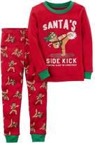 "Carter's Baby Boy Gingerbread ""Santa's Sidekick"" Top & Pants Pajama Set"