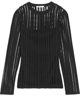 Alexander Wang Cutout Stretch Cotton-blend Jersey Top - Black