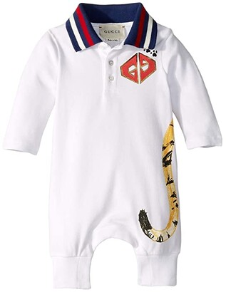 Gucci Kids Sleep Suit 547434XJAHR (Infant) (White/Red) Boy's Jumpsuit & Rompers One Piece