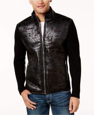 INC International Concepts Inc Men Textured Sweater Jacket